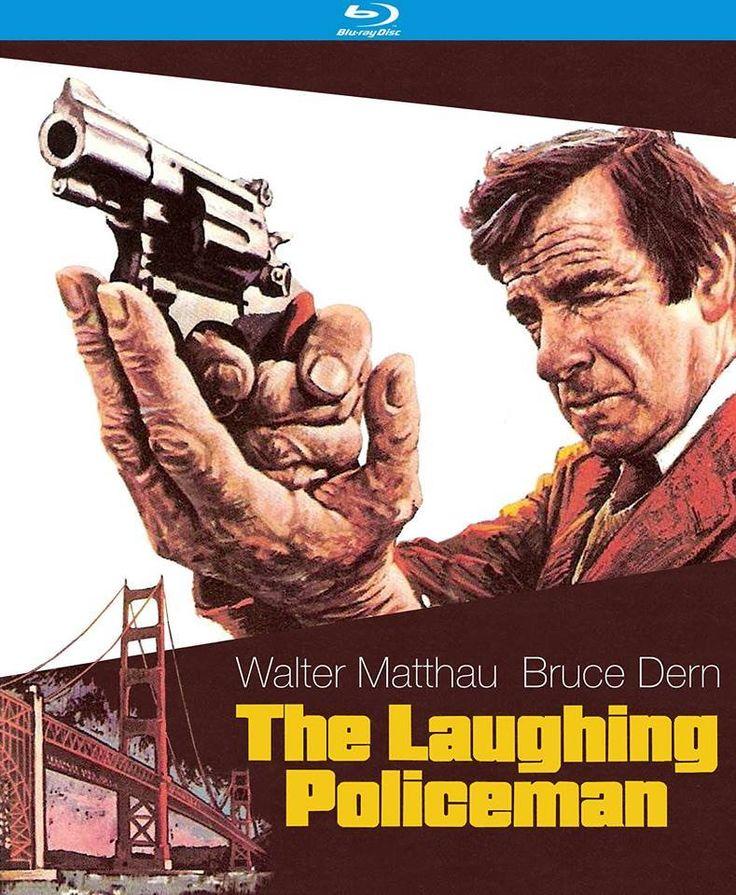 THE LAUGHING POLICEMAN - Walter Mathau & Bruce Dern - Directed by - 20th Century-Fox - BluRay cover art.