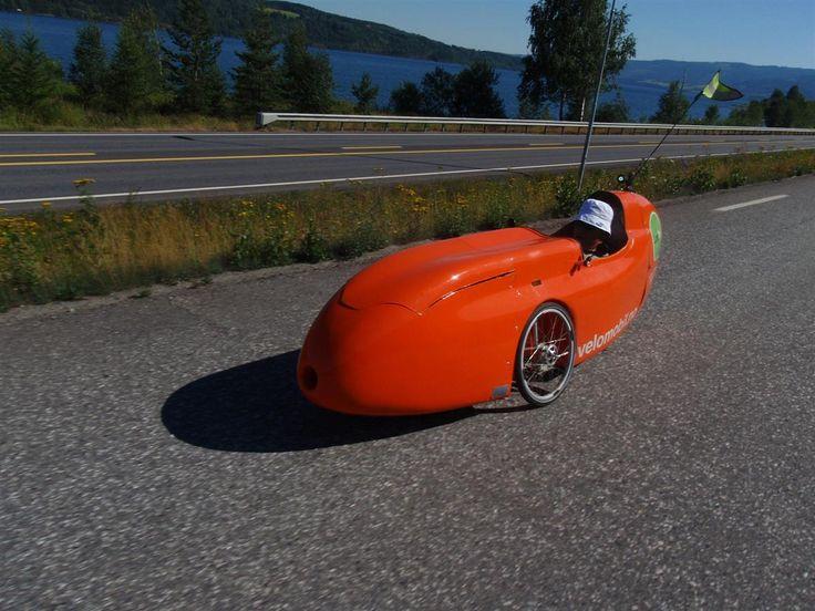 Vingnes i Oppland, test av WAW045 velomobil