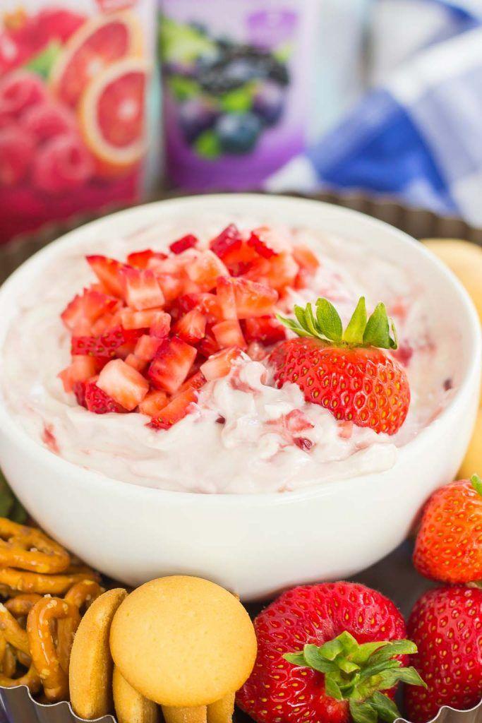 Greek Yogurt Strawberry Cheesecake Dip