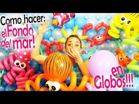 Como hacer el FONDO del MAR con GLOBOS!! / how to make seabed in balloons…