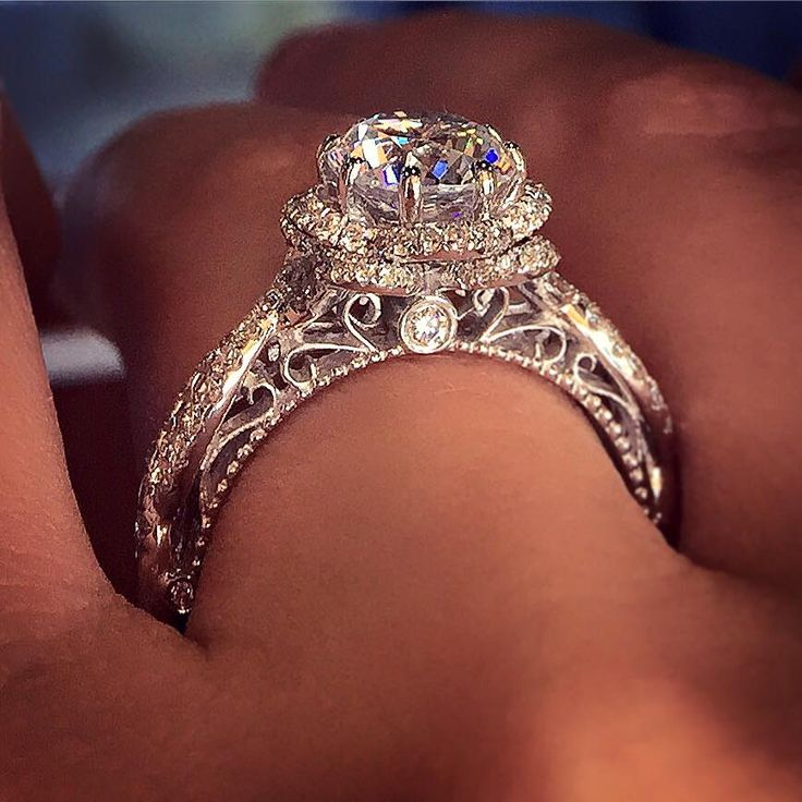 Home Floral Engagement Ring Engagement Rings Vintage