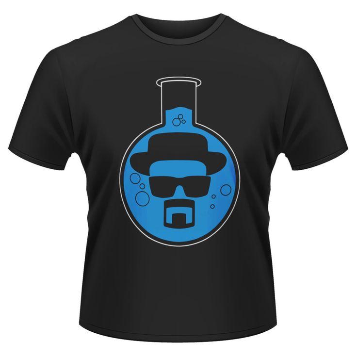 Tee-Shirt Noir Bottom Flask Breaking Bad