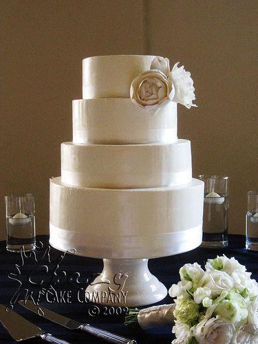 4 tier Buttercream wedding cake by Crazy Cake Lady19 best BUTTERCREAM WEDDING CAKES images on Pinterest  . Real Simple Wedding Cakes. Home Design Ideas