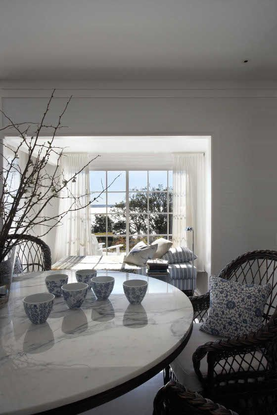 Table, blue bowls. desiretoinspire.net - Belle/Coco Republic Interior Designer of the Year 2012