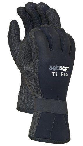 Seasoft TI Kevlar Gloves for Scuba Diving or Water Sports, Medium, 3mm by Seasoft. Seasoft TI Kevlar Gloves for Scuba Diving or Water Sports, Medium, 3mm. Medium.