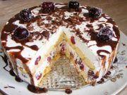 Nepečená piškótová torta s tou najjednoduchšou prípravou a fantastickou chuťou. Nezostane žiadny kúsok!