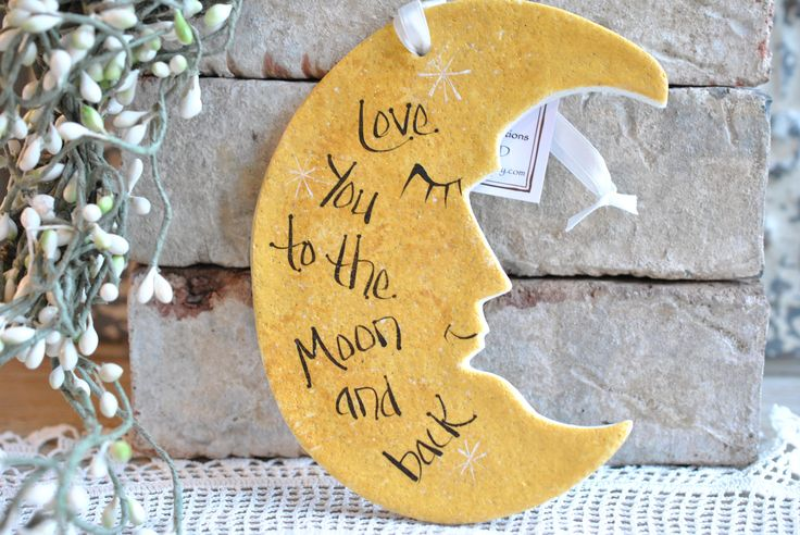 Love you to the Moon and Back Salt Dough Wall Hanger Ornament – Cookie Dough Creations
