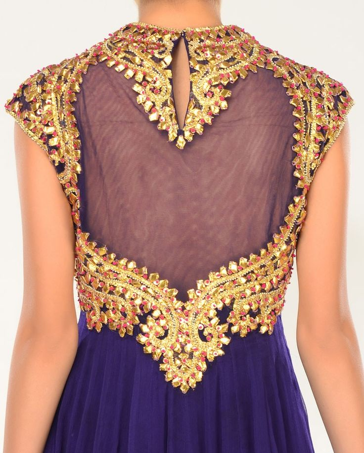 Deep Purple Gota Work Salwar | Goldwork Embroidery | Pinterest | Deep Purple Purple And Patti D ...