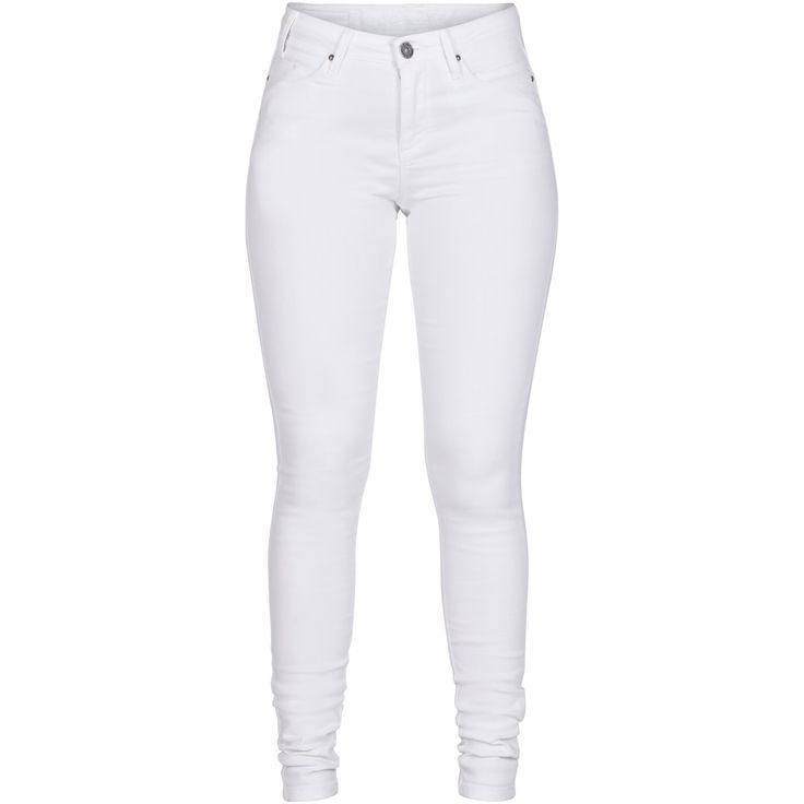 Jojo high waisted slim jeans Pretty white jeans with a nice look and fit. Perfect for spring and summer. Black Swan Fashion SS17