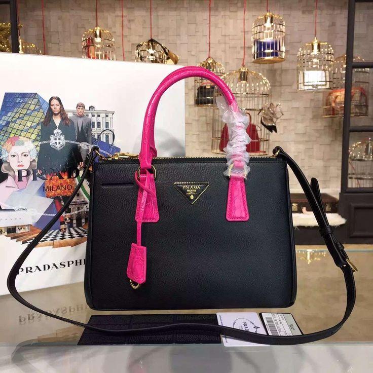 prada purses pink - Prada Galleria Saffiano leather bag