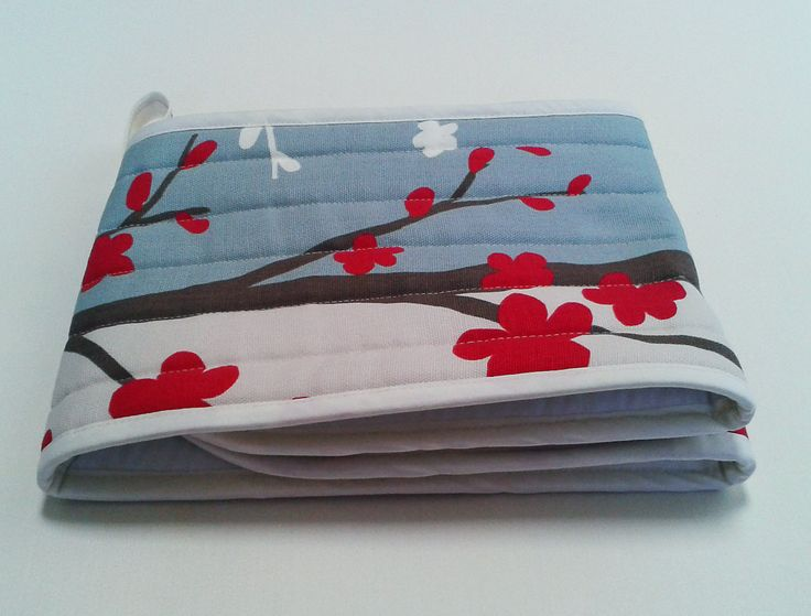 Oven gloves - pressed and ready to go.