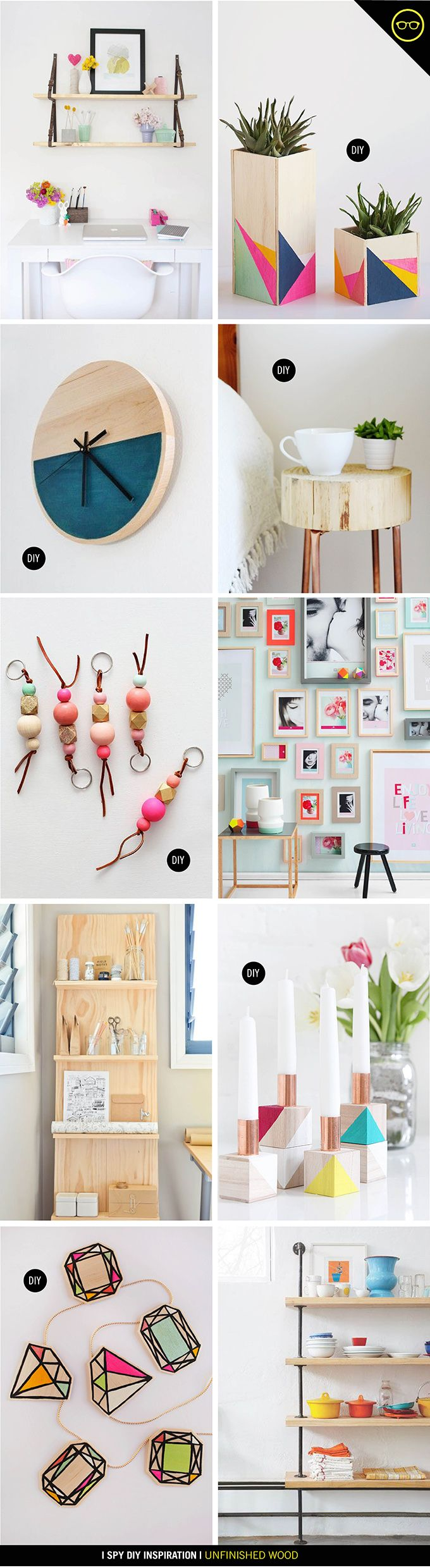 INSPIRATION | Unfinished Wood | I SPY DIY