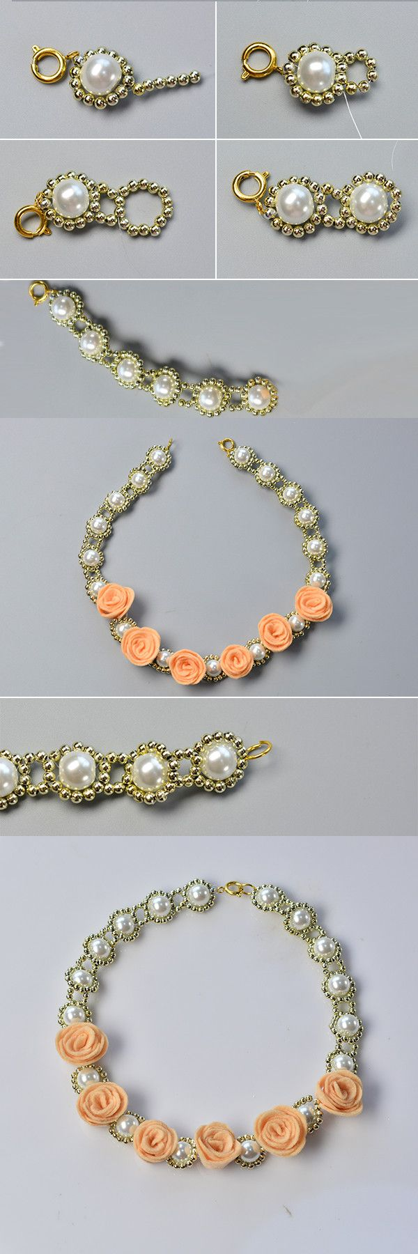 Like the flower pearl necklace?The tutorial will be published by LC.Pandahall.com soon.
