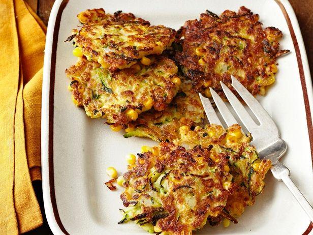 Zucchini-Corn Fritters Recipe : Food Network Kitchen : Food Network - FoodNetwork.com