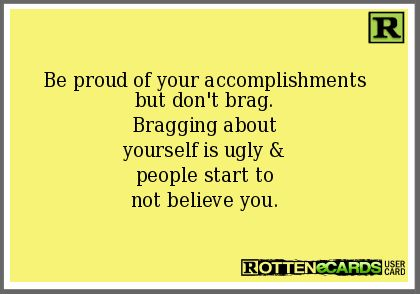 Bragging About Yourself Quotes Quotes