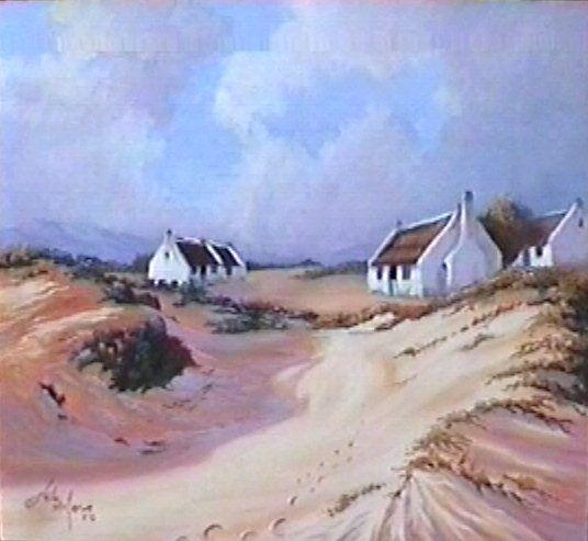 Fishermen Cottages 1 by Heila van der Merwe