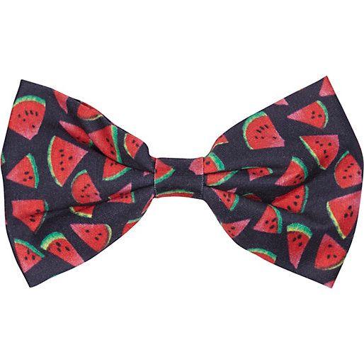 Black watermelon print bow #riverisland
