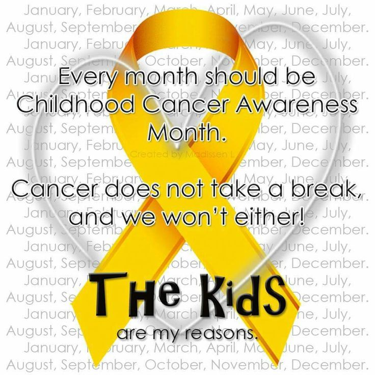 Every month should be childhood cancer awareness month