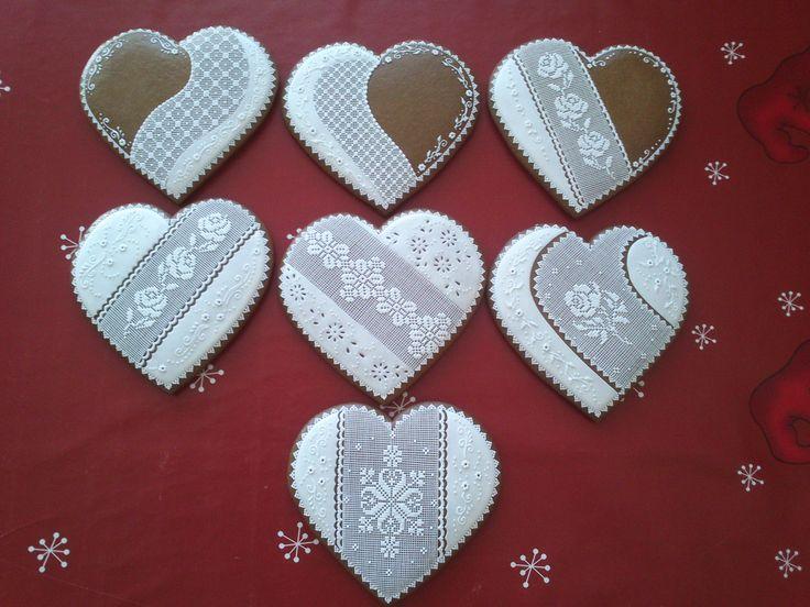 Medovníky srdcia 15 cm