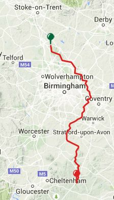 Viewranger GPS files for The Heart of England Way  Milford - Bourton-on-the-Water  5 Stages [196km]