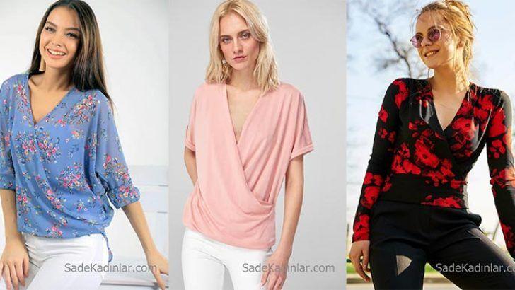 2019 Kruvaze Bluz Modelleri Ile Havali Kombinler Bluz Modelleri Bluz Moda