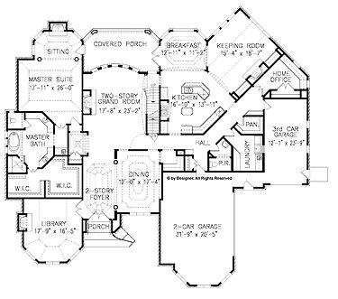 Home plans floor plans and keeping room on pinterest for House plans with keeping rooms