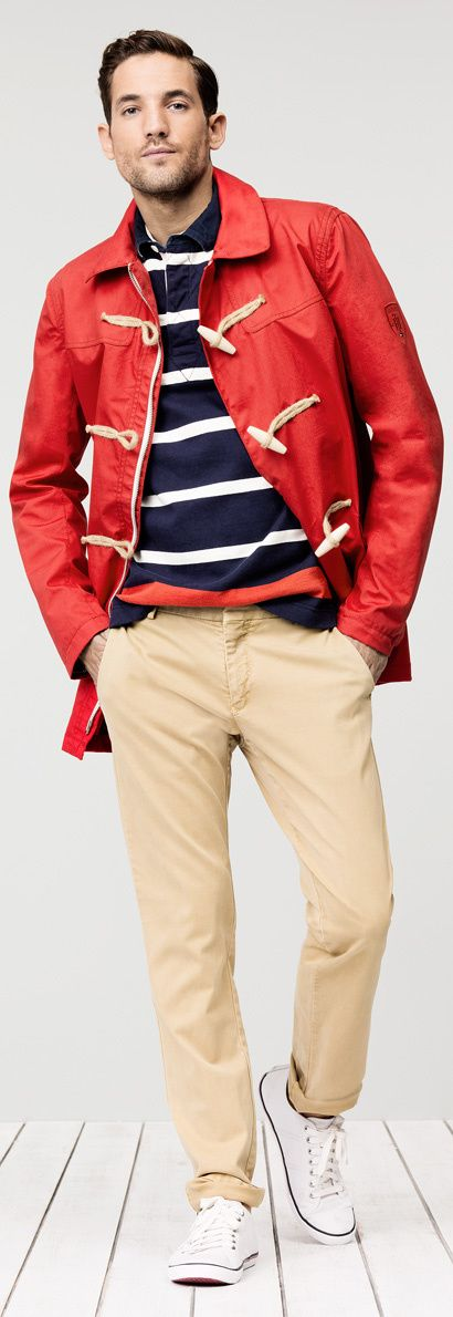 First Look At Spring–American fashion designer Tommy Hilfiger taps one more time models Arthur Kulkov and Max Rogers to give us a sneak peek of the pre-spr