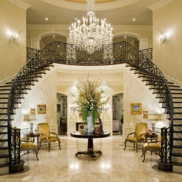 Grand Foyer Radiologie : Foyer staircase chandelier love it my home one