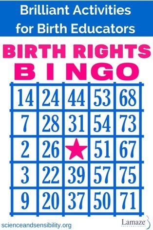 BIRTH RIGHTS Bingo | Childbirth Education Activity (scheduled via http://www.tailwindapp.com?utm_source=pinterest&utm_medium=twpin)