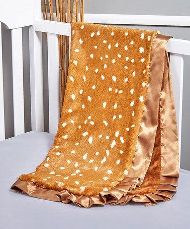 Another great find on #zulily! 30'' x 40'' Brown Fawn Stroller Blanket #zulilyfinds