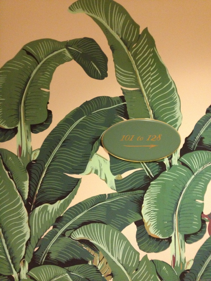 Iconic 'Leaf' wallpaper at the Beverly Hills Hotel