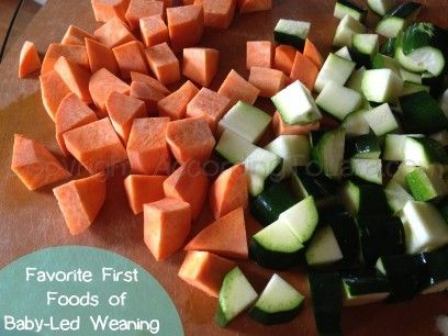 Favorite First Foods of Baby-Led Weaning. Breakfast lunch and dinner