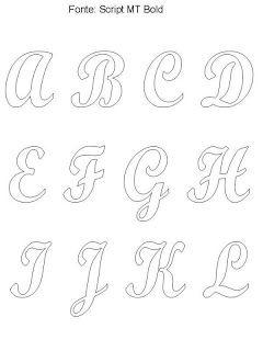 Ateliê Ponto & Patch: Moldes de Letras ou Alfabetos para Patchcolagem