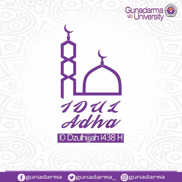 Segenap civitas Universitas Gunadarma mengucapkan Selamat Hari Raya Idul Adha 10 Dzulhijjah 1438 Hijriah bagi yang merayakan. Semoga kita semua mendapat keberkahan.