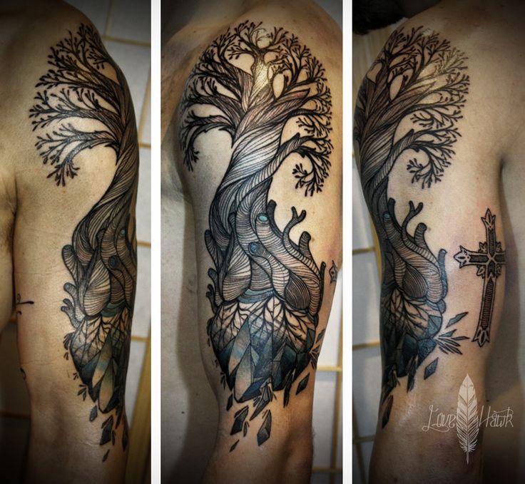 Heart tree | Tattoo's | Pinterest