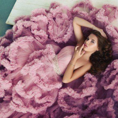 Розовое платье #24