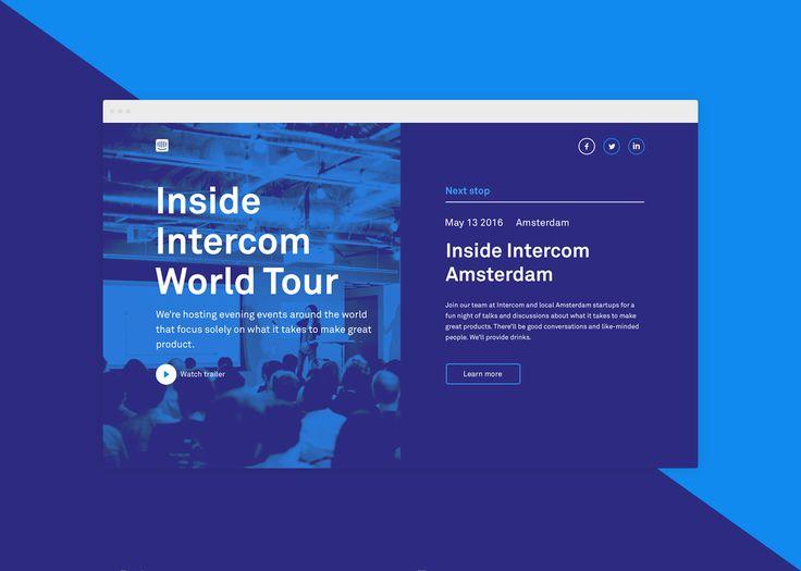 """다음 @Behance 프로젝트 확인: """"Inside Intercom World Tour"""" https://www.behance.net/gallery/45716411/Inside-Intercom-World-Tour"""