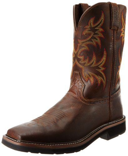 Justin Original Work Boots Men's Stampede Pull-On Square Toe Work Boot - http://authenticboots.com/justin-original-work-boots-mens-stampede-pull-on-square-toe-work-boot/