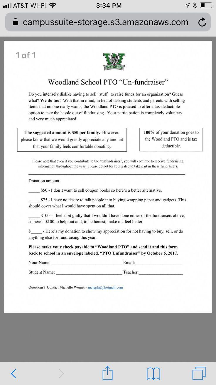 donation letters Fundraisingletter Pta fundraising