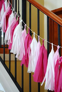 7.99 SALE PRICE! Use this Tassel Garland in pink to adorn your outdoor wedding, event, or baby shower in style! Decorate the backs of chairs, tree branches, ...