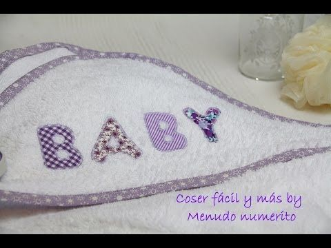Cómo hacer una capa de baño con capucha para bebé - How to make a baby hooded towel - YouTube