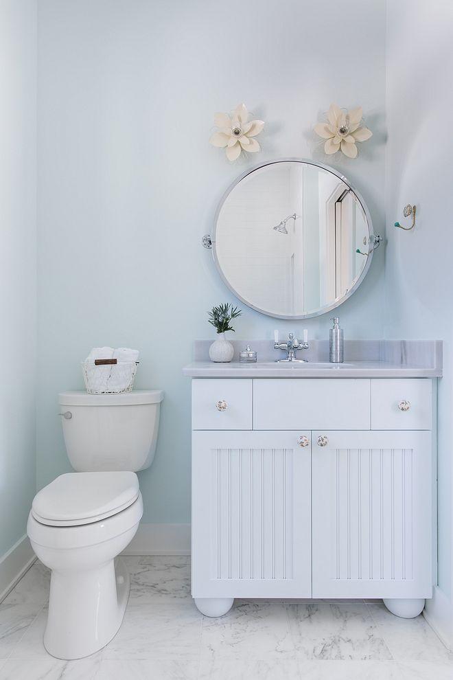 sherwin williams glimmer soft blue bathroom paint color on blue paint bathroom ideas exterior id=85538