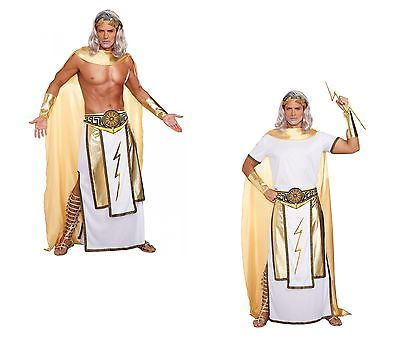 Zeus Costume Adult Mens Roman Greek King of God Ruler of the Olympian Md-XXL