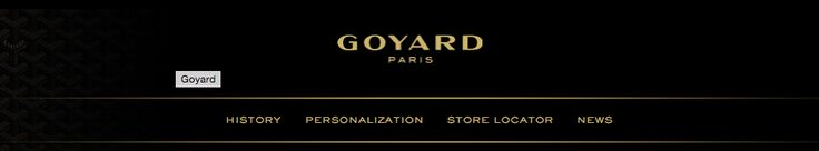 """Just sell marginally on the internet"". The screenshot shows that Goyard does not offer any products online, showing that they believe in having a one-on-one experience and that the customer needs to earn the luxury purchase."