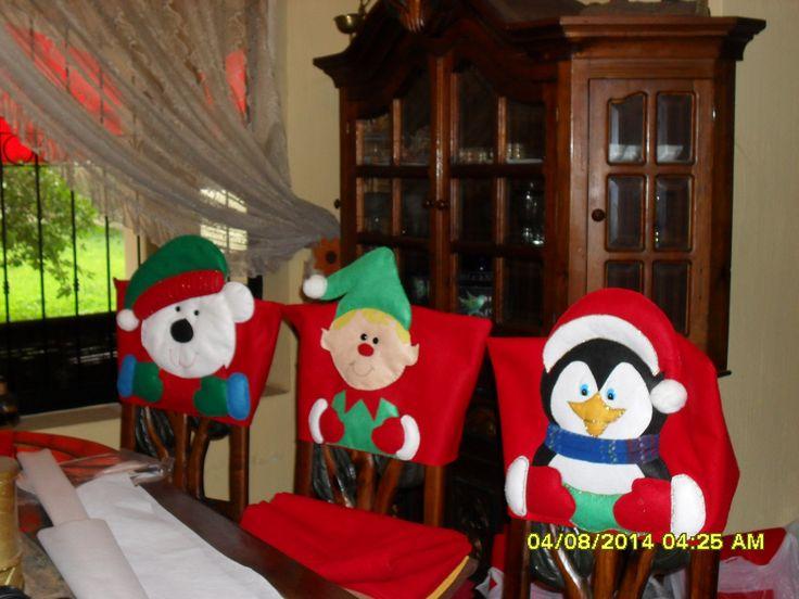cubresillas navideñas
