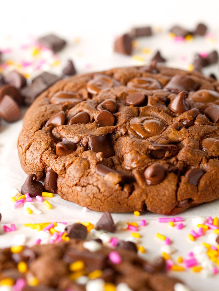 Giant Chocolate Peanut Butter Cookies for 2 by Deliciously Yum!