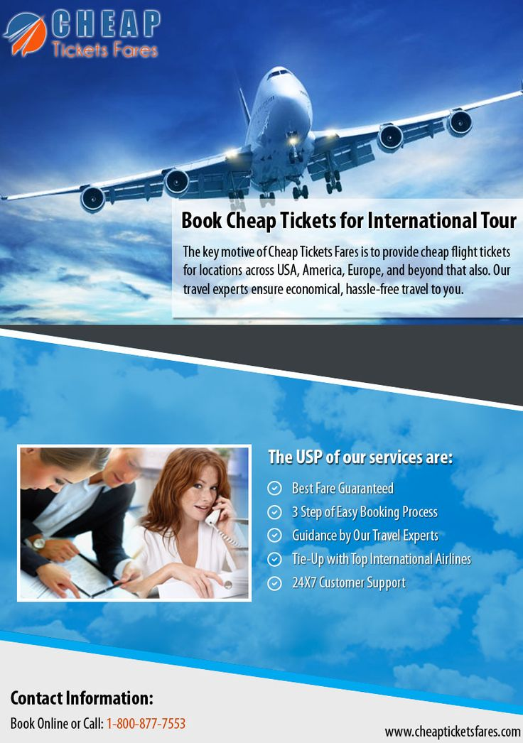 Get the cheapest flight tickets from Cheap Tickets Fares which provides best travel deals on flight tickets across US and beyond.