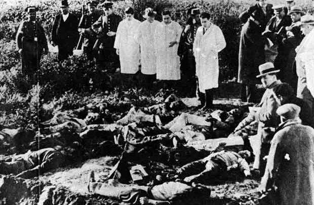 Cadáveres de la matanza de Casas Viejas.