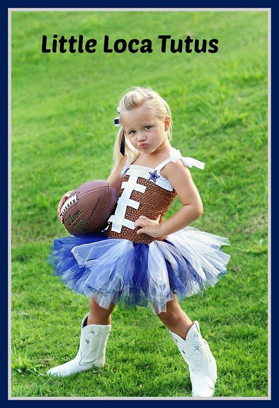 Dallas Cowboys inspired Football team tutu by LittleLocaTutus, $35.00