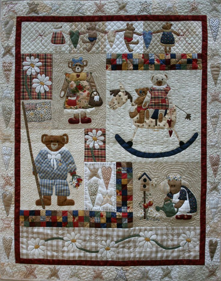 10 images about teddy bear quilts on pinterest a month for Quilt maken met naaimachine